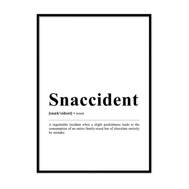 Snaccident Definition Wall Print