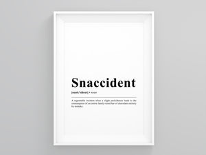 Snaccident Definition Poster