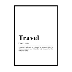 Travel Definition Wall Print