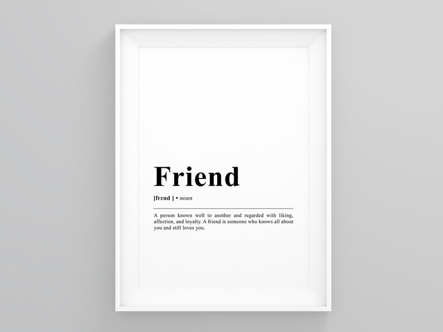 Friend Definition Poster