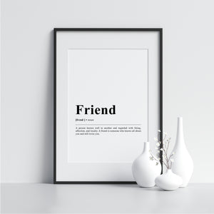 Friend Funny Definition Poster