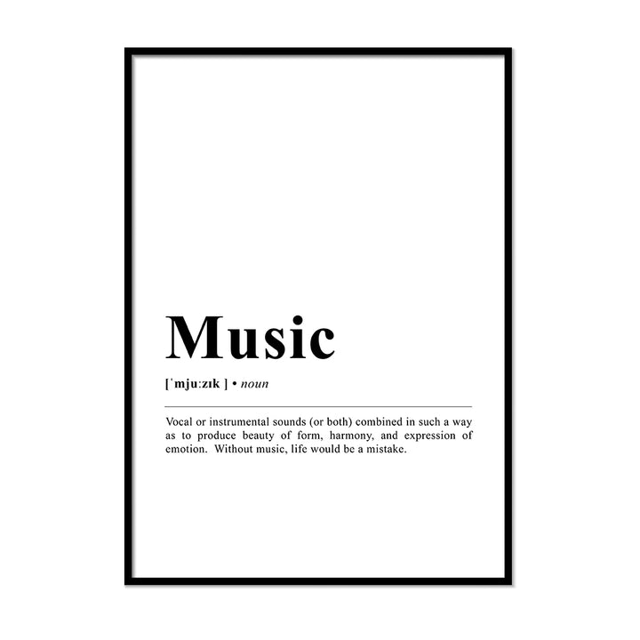 Music Definition Wall Print
