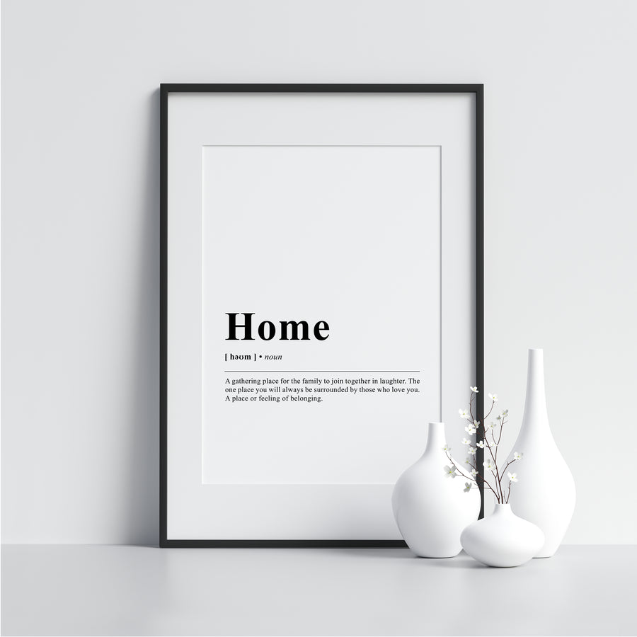 Home Funny Definition Poster