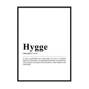 Hygge Definition Wall Print
