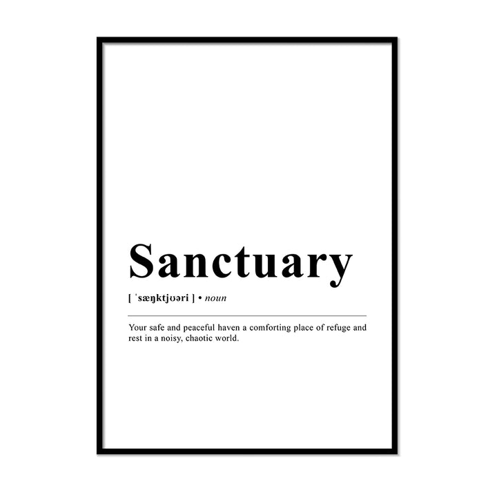 Sanctuary Definition Wall Print