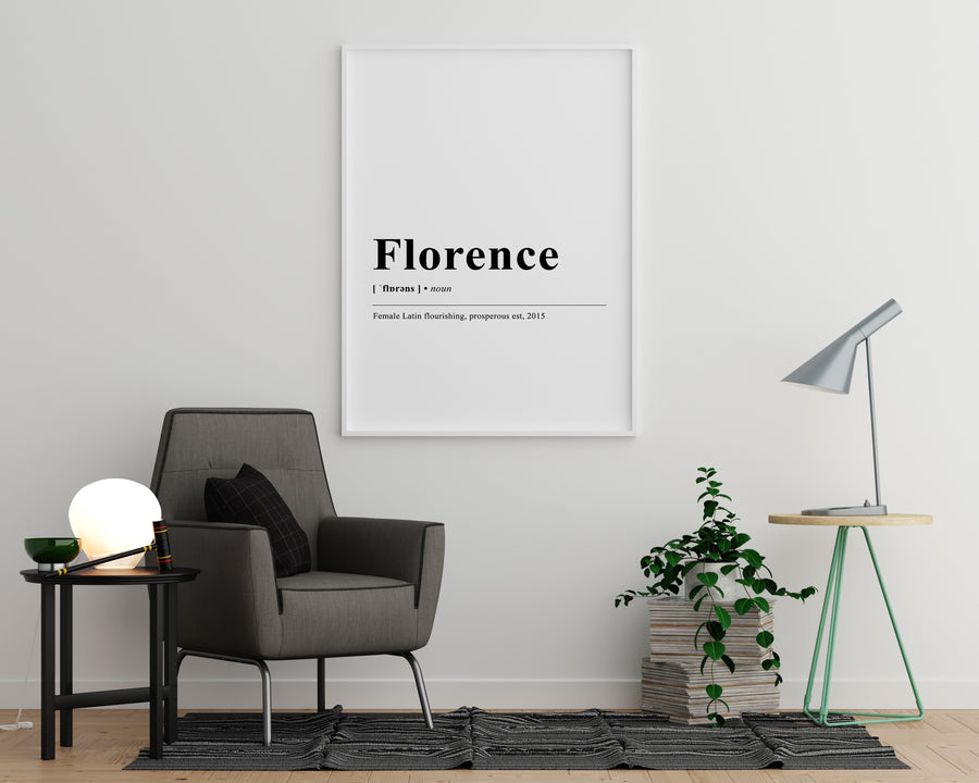 florence Definition Print