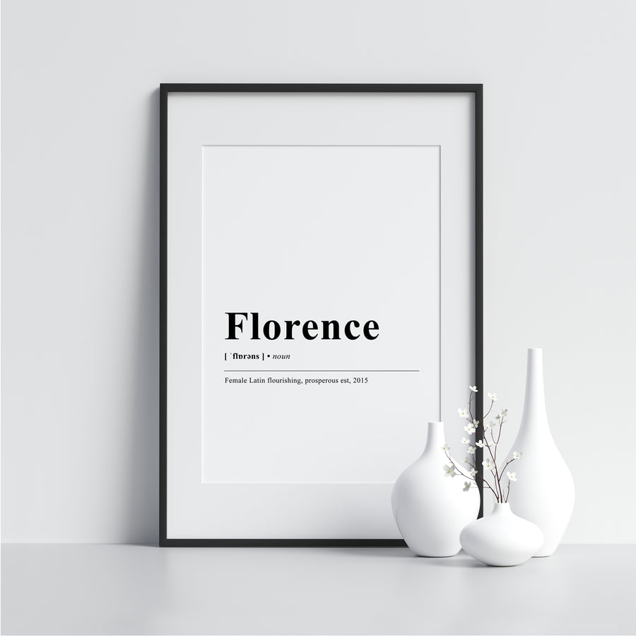 florence Funny Definition Poster