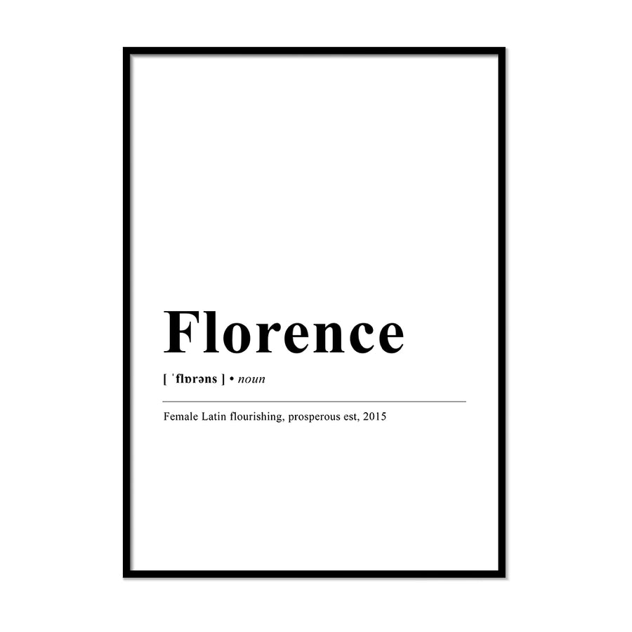 florence Definition Wall Print