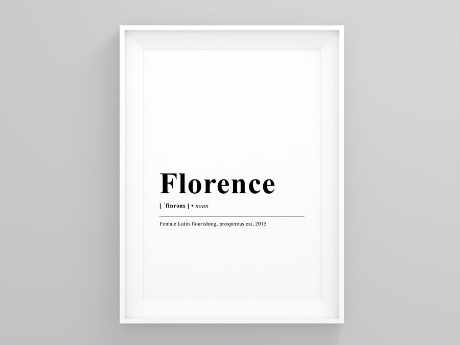 florence Definition Poster