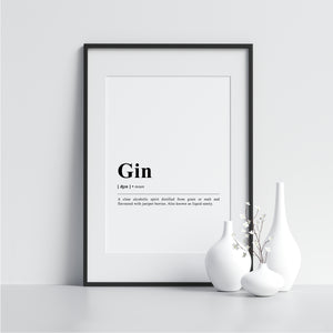gin Funny Definition Poster