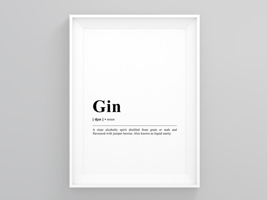 gin Definition Poster