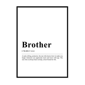 Brother Definition Wall Print