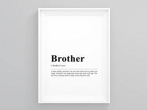 Brother Definition Poster