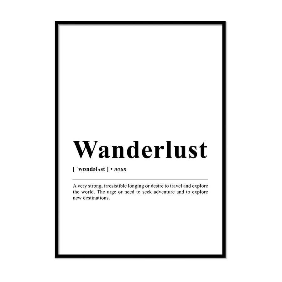 Wanderlust Definition Wall Print