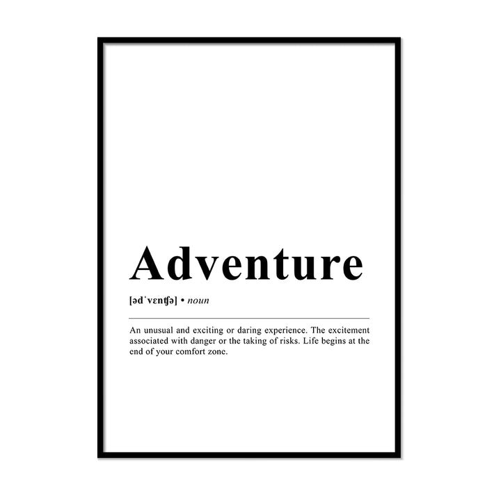 Adventure Definition Wall Print
