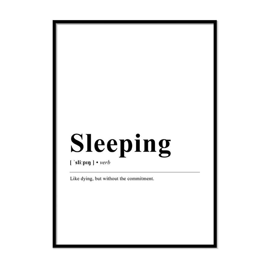 Sleeping Definition Print | Printers Mews