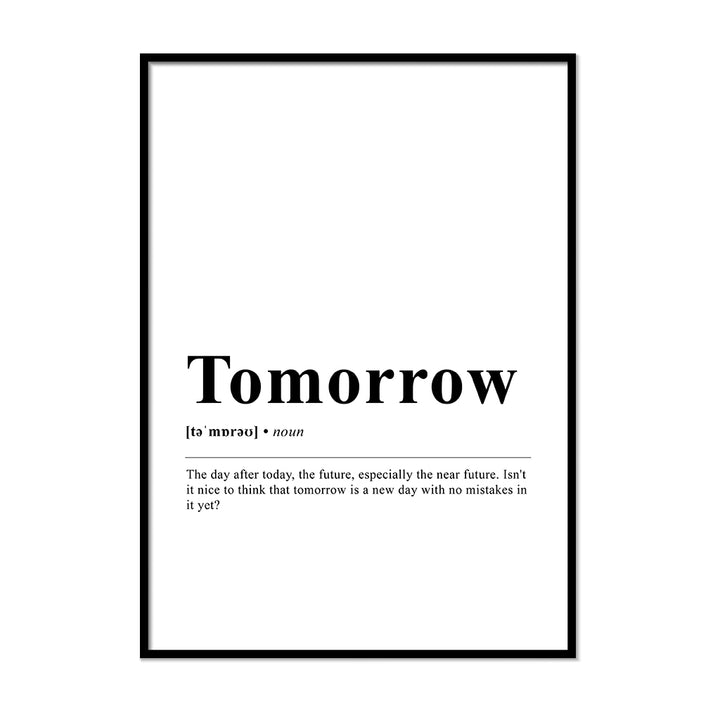 Tomorrow Definition Wall Print