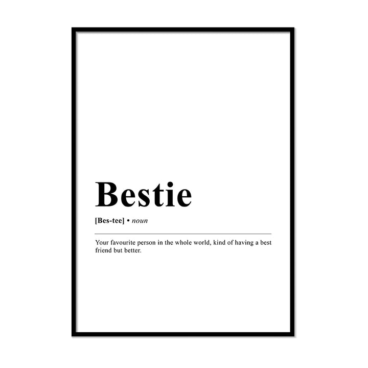 Bestie Definition Wall Print