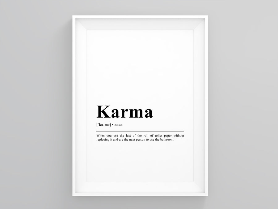 Karma Definition Poster