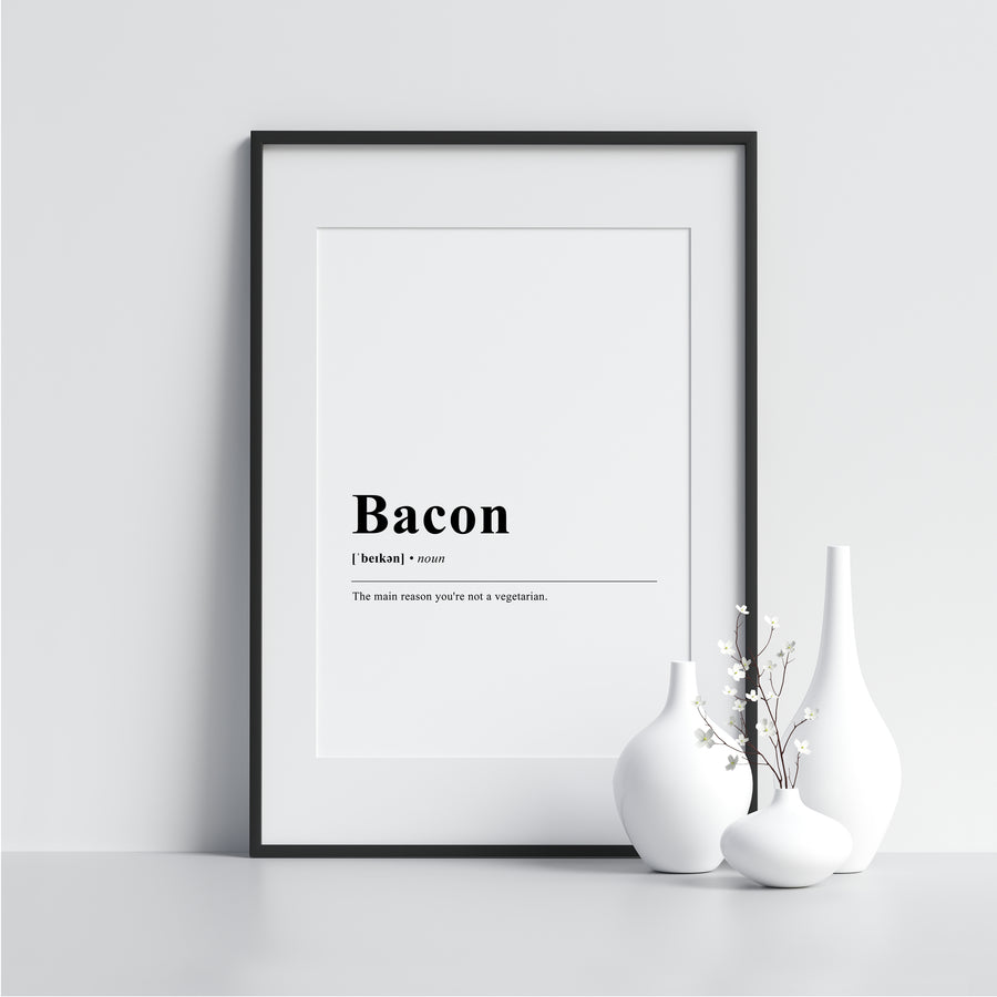 Bacon Funny Definition Poster