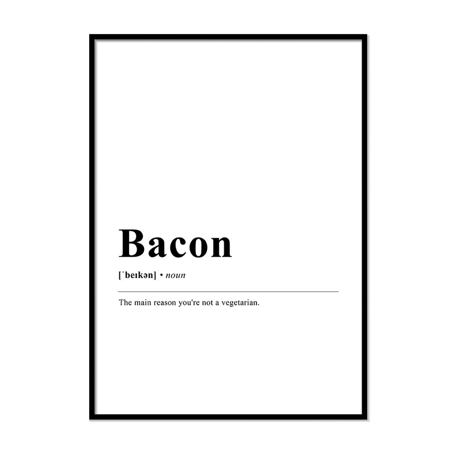 Bacon Definition Wall Print