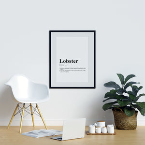 Funny Definition Print Lobster