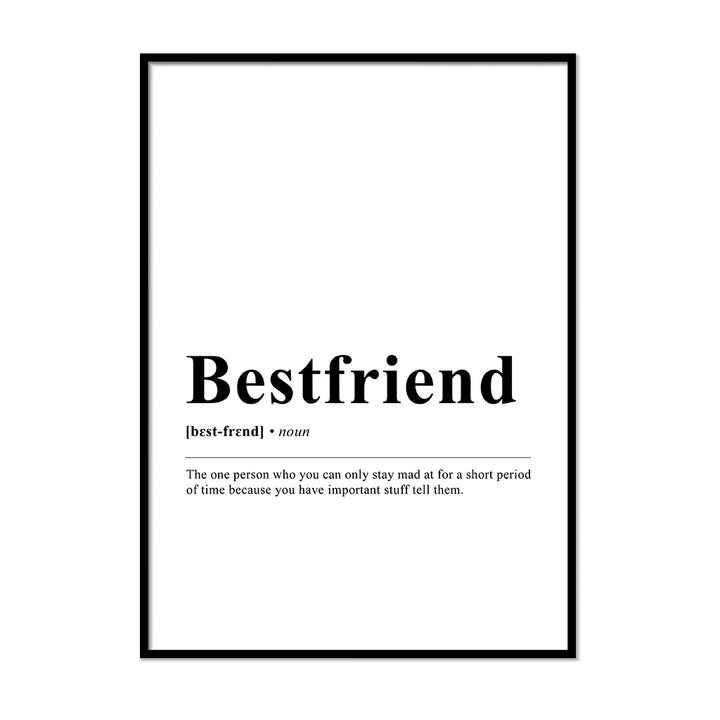 Bestfriend Definition Wall Print