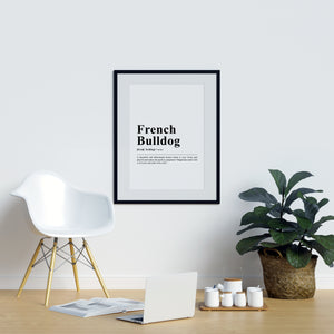 French Bulldog Definition Print
