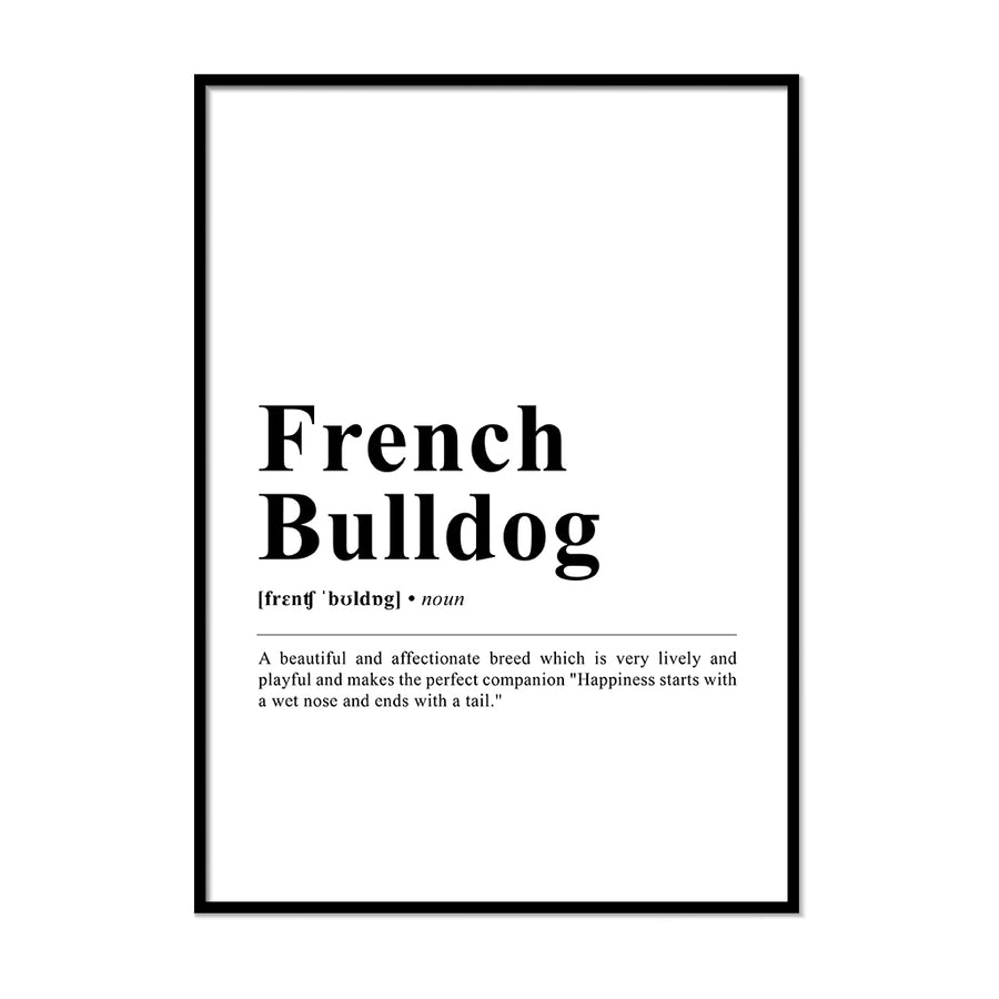 French Bulldog Definition Print | Printers Mews