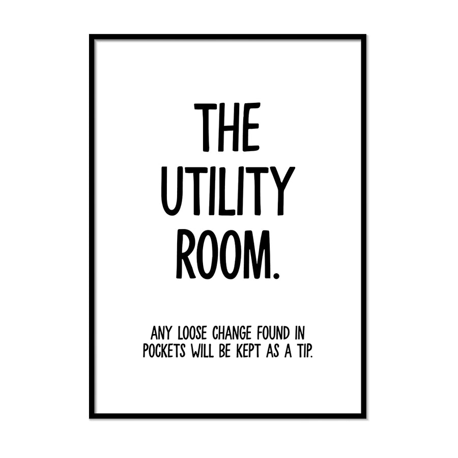 The Utility Room Sign | Printers Mews