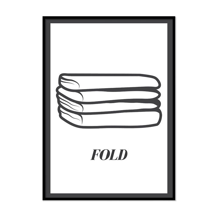 Fold Laundry Room Sign | Printers Mews