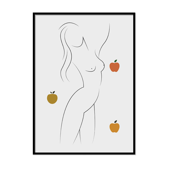 Women Form  Grey burnt orange art | Printers Mews