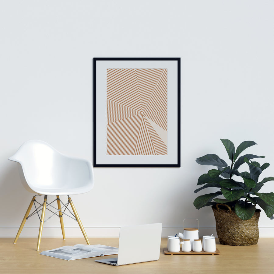 Abstract Burnt Orange  Poster | Printers Mews
