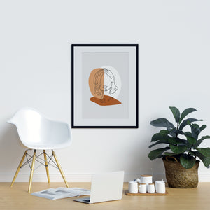 Single Lines Portrait  Wall Art | Printers Mews