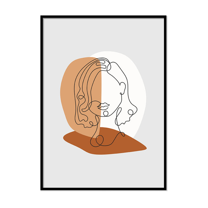Single Lines Portrait  Terracotta Wall Decor | Printers Mews