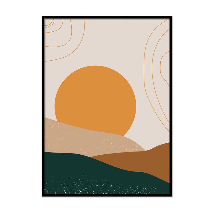 Terracotta Sunset Burnt Orange Poster | Printers Mews