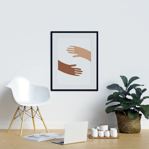 Hand Holders Orange Poster | Printers Mews