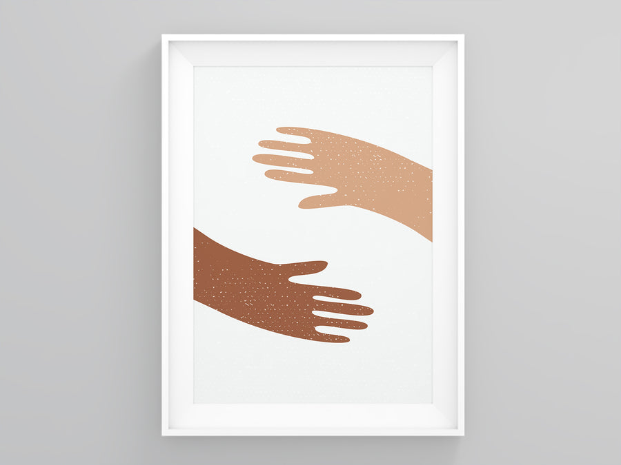 Hand Holders Neutral Colors Wall Art | Printers Mews