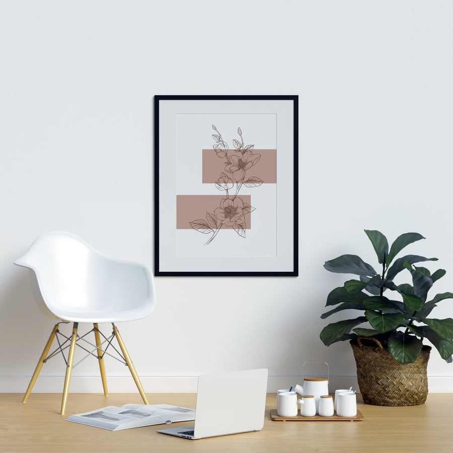 Anemone Outline Wall Décor | Printers Mews