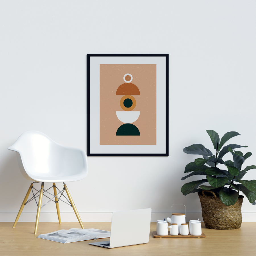 Abstract Terracotta Eye Burnt Orange Poster | Printers Mews
