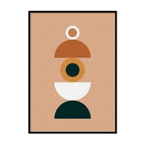 Abstract Terracotta Eye Poster | Printers Mews