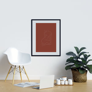 Female Form Burnt Orange Terracotta Sun Burnt Orange | Printers Mews