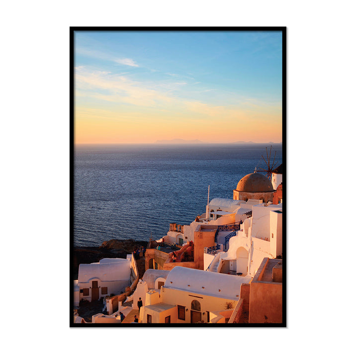 Orange Horizon  Burnt Orange Poster | Printers Mews