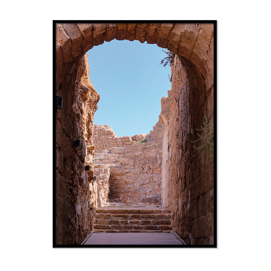 Terracotta Archway Burnt Orange Poster | Printers Mews