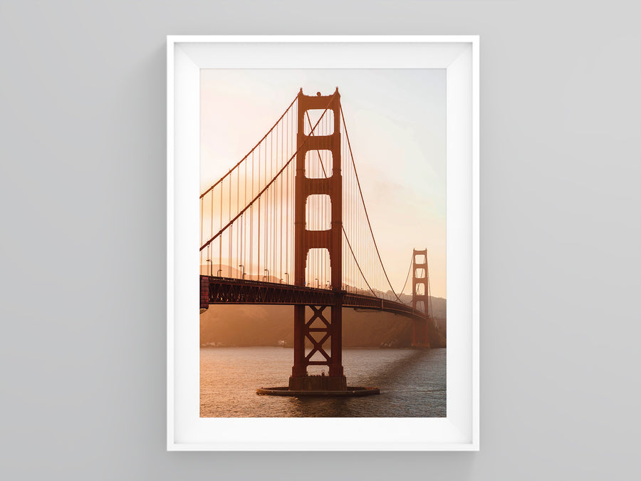 Golden Gate Bridge Terracotta Sun Burnt Orange | Printers Mews