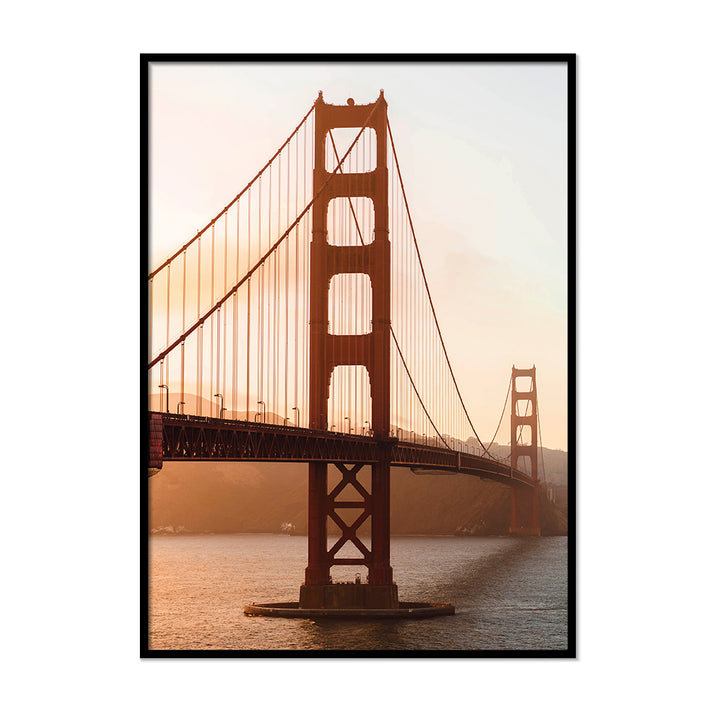 Golden Gate Bridge Burnt Orange Poster | Printers Mews