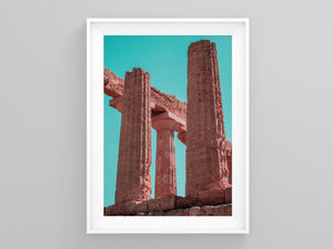 Pink Pillars Neutral Colors Wall Art | Printers Mews