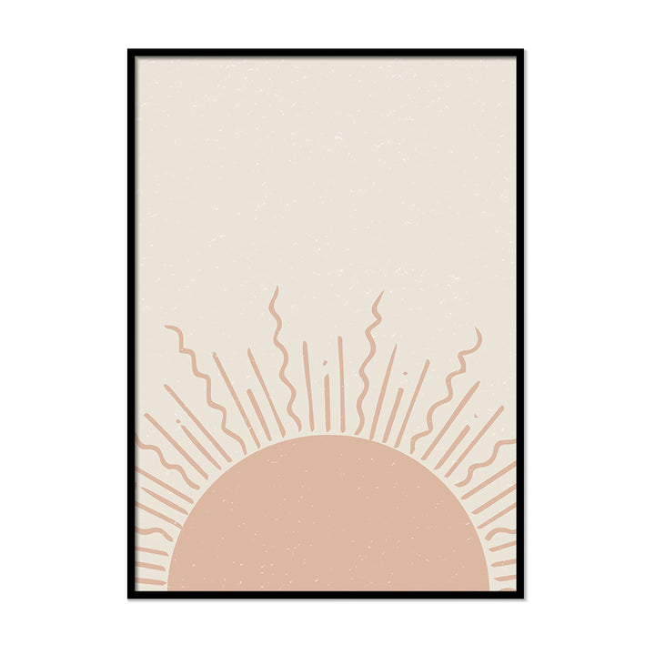 Pastel Sun Neutral Colors Wall Art | Printers Mews