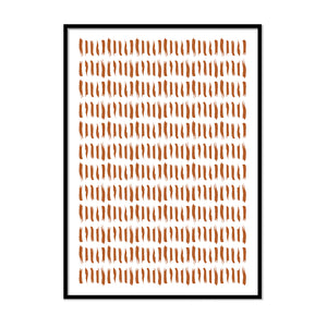 Abstract Orange Lines Terracotta Print | Printers Mews