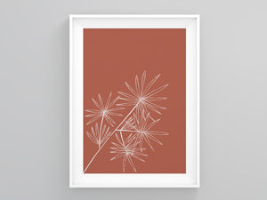 Terracotta Plant  Wall Art | Printers Mews